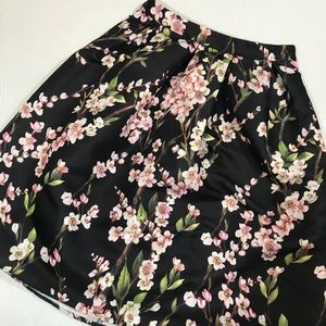 Alya Cherry blossom print skirt